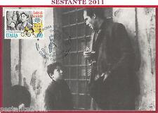 ITALIA MAXIMUM MAXI CARD VITTORIO DE SICA LADRI DI BICICLETTE 1988 ROMA B169
