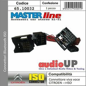CONNETTORE ISO INTERFACCIA BLUETOOTH SISTEMA PER CITROEN C3 DAL 2005 IN POI