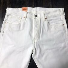 Levis 501 Jeans White Mens Button Fly Authentic White Many Sizes New With Tags