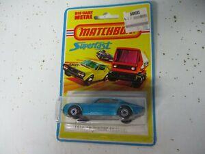Matchbox Lesney Superfast SF4 Pontiac Firebird- blue, blistercarded