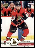 2019-20 Series 2 Exclusives Parallel #289 Nikita Zaitsev /100 Ottawa Senators