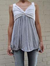 TWENTYONE Tank Top Sleeveless White Gray SMALL USA Womens