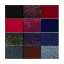 Plain Velour Velvet Fabric Spandex Stretch Luxurious (150cm wide)