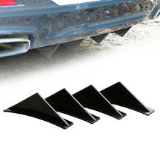 4pcs Car SUV Back Rear Bumper Diffuser Sharik Fin Kit Spoiler Lip Wing Splitter