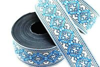 10 yard 10 metersPink Ruban Vintage Ribbon Black Floral Jacquard trim