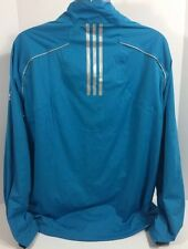 Adidas Golf Climaproof Storm Jacket XL Tequila Corazon De Agave Blue 3 Stripe