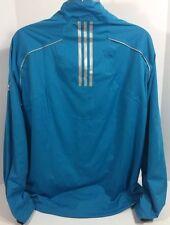 Adidas Golf Climaproof Storm Jacket XL Tequila Corazon De Agave Blue 3 Stripe