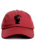 2Pac Bandana Custom Unstructured Dad Hat Cap Rapper Legend New-Cradinal Red