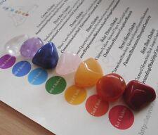 Chakra Healing Crystals 7 Colorful Reiki Chakra Stones Smaller Starter Set