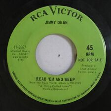 Country Promo 45 Jimmy Dean - Read 'Em And Weep / Born To Be By Your Side On Rca