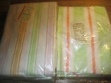 Konvolut 4x Bettlaken und 1 Bettwäsche Streifen orange grün  neu 100% Baumwolle
