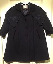 Rothschild Girls Navy Blue Wool Dress Coat Size 3T