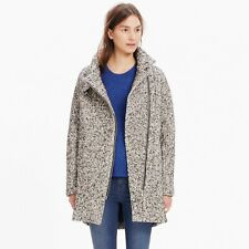 Madewell Women's City Grid Coat in Tweed Black & White Size 4