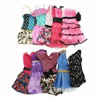 10 Stück handgefertigte Kleider Kleidung für Puppen Geschen Stil zufälliges N8O5