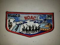 Boy Scout OA 327 Huaco Lodge Flap S22 1996 NOAC Red Border