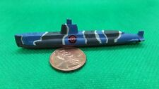MILITARY MICRO MACHINE BLACK SSN 571 USS NAUTILUS NUCLEAR SUBMARINE - BLUE BLACK