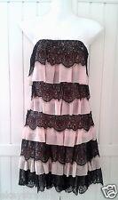 New-A Next 1920s Charleston Flapper Style Black & Pink Layered Lace Dress RRP£65
