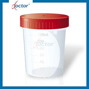 4 Contenitori per urina con tappo ermetico a vite 120 ml - analisi urine