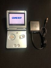 Authentic Pearl Blue Nintendo Gameboy Advance SP AGS-101 System Bundle w/Charger