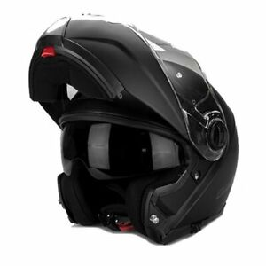 XL Flip up chin guard LS2 Strobe Full Face Road Motorbike Helmet Matt Black