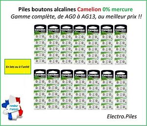 Piles/Cells Bouton Camelion Alcaline AG0/AG13 1.5V Free Shipping !!