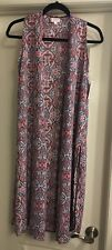 LuLaRoe Xs Extra Small Joy Stained Glass Paisley Floral White Blue Pink Burgundy