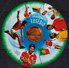 Mozambique MNH Odd Unusual Round SS, Sports, Football, Ronaldo, Pele -C66