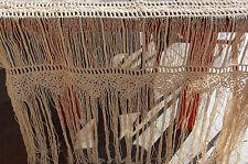"""RIDEAU / BRISE VUE ANCIEN """"en coton """" / Beige 88 cm de haut"""