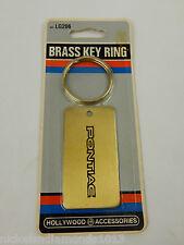 NEW OLD STOCK Solid Brass PONTIAC Key Ring LG206 Firebird GTO Grand Prix