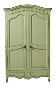 33010EC: JOHN WIDDICOMB Country French Paint Decorated Bedroom Armoire