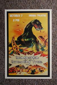 Soundgarden Concert poster 1990 Moore Theatre Screaming Trees---