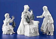 THE MARIONETTE PERFORMANCE WINTER SILHOUETTE DEPT 56  SANTA IN CHAIR AND A GIRL