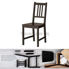 Ikea Chaise de Cuisine en Bois Pin Salle à Manger Noir Brun