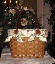 Longaberger MEDIUM Boardwalk Basket Fabric LINER ONLY - BOTANICAL FIELDS - Cute!