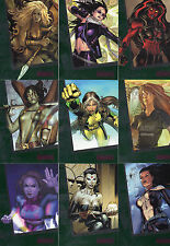 2013 Woman of Marvel series 2 Emerald PARALLEL set of 90 cards serial number RAR