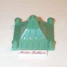 2x Lego Castle Tiled Roof 6 x 6 Pyramid Sand Green 4706 Belville Ninjago