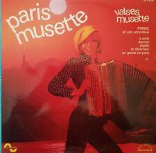DISQUE 33 TOURS PARIS MUSETTE PIERRIC ET SON ACCORDÉON