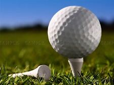 Golf ball tee Close Up Macro Photo art print poster foto bmp032a