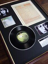"JOHN LENNON IMAGINE 7"" RECORD SINGLE + ORIGINAL HANDWRITTEN LYRICS MONTAGE"