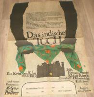 Filmplakat DDR ,Progress  DAS INDISCHE TUCH ,EDGAR WALLACE, Klaus Kinski,Drache