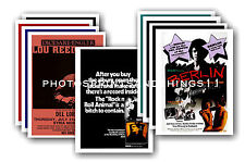 Lou Reed  - 10 promotional posters - collectable postcard set # 1