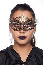 Royal Crown Vintage Gold StonesLaser Cut Venetian Masquerade Mask Unisex Costume