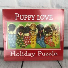 Christmas Puppy Love 1000 Piece Jigsaw Puzzle NEW Dogs Stockings Lab Sealed