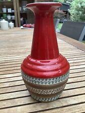 Vase Rouge céramique vintage 1960 1970 faïence Allemande Germany Dumler Breiden
