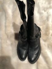 "Frye Harness Pointed Toe Black Leather Boots with 2.5"" heel Women's Size 9.5B"