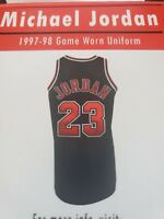 MICHAEL JORDAN 1997-1998 CHICAGO BULLS GAME WORN JERSEY SWATCH BOX
