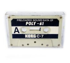KORG C-7 Preloaded Sound Data of POLY-61 Cassette