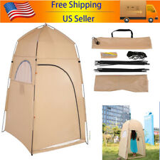 Outdoor Shower Bath Tent Portable Fitting Room Camping Beach Privacy Toilet H2P5