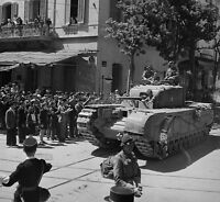 WWII Photo British Churchill Tank Tunisia 1940  World War Two WW2 B&W / 3089