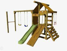 Peppertown Skyfort SK100 DIY Playground Cubby House Swings Trapeze Turnbar Slide